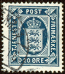 Danmark 1920 -  AFA nr. 17(Tj) - Tjenestefrimærke