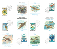 Special price! Russia - Historic Soviet Aircraft -   6 first day covers Includes six first day cover