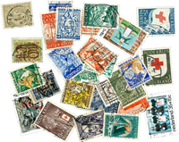 Netherlands - 27 diff. cancelled stamps