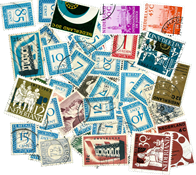 Netherlands - 46 diff. cancelled stamps