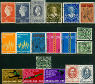 Netherlands - 18 diff. cancelled stamps