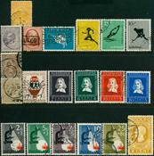 Nederland - 20 versch. gestempelde postzegels