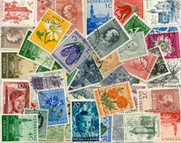 Netherlands - 51 diff. cancelled stamps