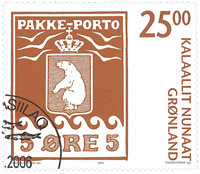 Greenland - Parcel stamp - cancelled