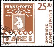 Grønland - Pakke Porto II - Stemplet frimærke