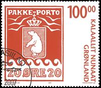 Grønland - Pakkeporto III - Stemplet frimærke
