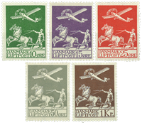 Denmark - Old airmail complete - Mint