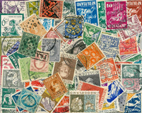 Netherlands - 87 diff. cancelled stamps