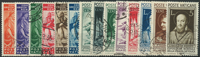 Vatikanet 1935-36 - AFA nr. 70-83