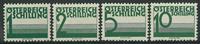 Østrig 1925-34 - AFA nr. 155-58 - Porto