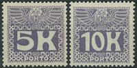 Østrig 1908-13 - AFA nr. 45-46 - Porto