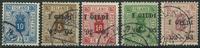 Island 1898-1903 - AFA nr. 5B + 12 + 14-16 - Tjenestemærker