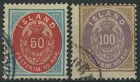 Island 1892 - AFA nr. 16A+17A