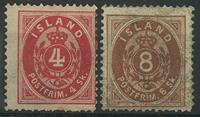 Island 1873 - AFA nr. 2-3 - Ubrugt