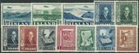 Island 1952-57 - 3 postfriske sæt