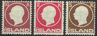 Island 1912 - AFA nr. 72 + 74-75 - Postfrisk