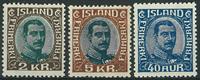 Island 1920-22 - AFA nr. 97-98 + 103 - Ubrugt