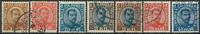Island 1920-22 - 7 stemplede Chr. X