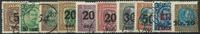 Island 1921-26 - 10 stemplede mærker