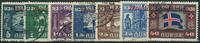Island 1930 - AFA nr. 44-48 + 50-52 - Tjenestemærker - Stemplet