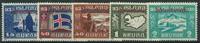 Island 1930 - AFA nr. 48 + 53-56 - Ubrugt