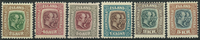 Island 1907 - AFA nr. 57-62 - Postfrisk