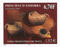 French Andorra - Prehistory - Mint stamp