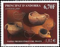 Fransk Andorra - Forhistorie - Postfrisk frimærke