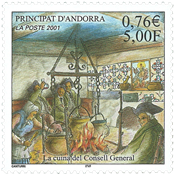 French Andorra - La Cuina - Mint stamp