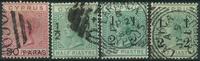 Cypern 1882-86 - AFA nr. 16 + 24 + 25 +25a - Stemplet