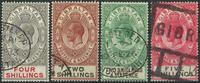 Gibraltar 1912-30 - AFA no. 71 + 86-88 - cancelled