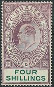 Gibraltar 1904-08 - AFA no. 54 - unused