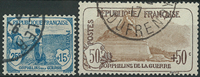 France 1917 - AFA no. 124-126 - cancelled