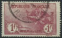 France 1917 - AFA no. 127 - cancelled