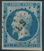 France 1853 - AFA no. 14 - cancelled