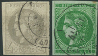 France 1870 - AFA no. 38-39 - cancelled