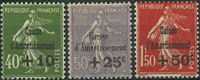 France 1931 - AFA no. 255-57 - unused