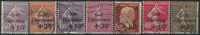 France 1928-30 - 7 cancelled stamps