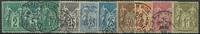 France 1876-78 - AFA no. 57a-67a - cancelled