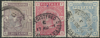 Great Britain 1883-84 - AFA no. 82-84 - cancelled