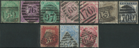 Great Britain 1855-81 - 10 with nice cancellations