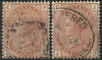 Great Britain 1880-81 - AFA no. 53 + 64 - cancelled