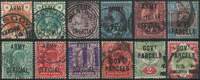Great Britain 1886-1902 - AFA no. 7-14 + 31 + 34-34 + 38 - cancelled