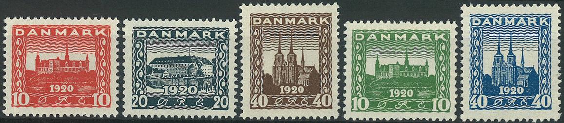 Danmark 1920 - AFA nr. 112-16 - Postfrisk