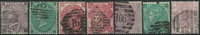 Great Britain 1862-76 - 7 cancelled stamps