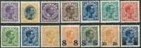 Danmark 1913-26 - 14 postfriske Chr. X.
