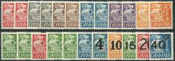 Danmark 1933-40 - 23 postfriske karavel stålstik
