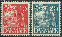 Danmark 1933 - AFA nr. 203 + 205 - Postfrisk