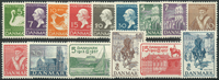 Danmark 1935-37 - AFA nr. 223-33 + 239-42 - Postfrisk
