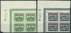Danmark 1921 - 2 marginal 4-blokke - Ubrugt